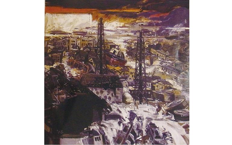 絵画大賞を受賞した「地鳴り」