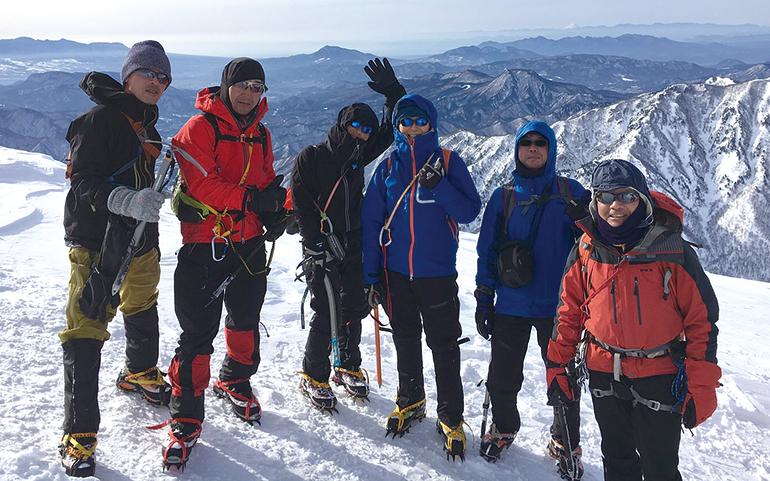 谷川岳登頂
