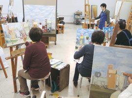 こどものおもちゃをテーマに、ほのぼのとした世界観を表現「油絵・静物画」