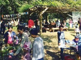毎年秋に同会場で開催される「森展・Art Party」の様子