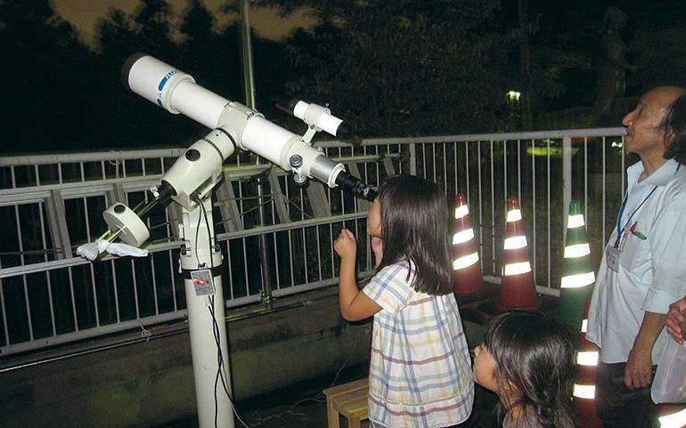 天体観測会の様子