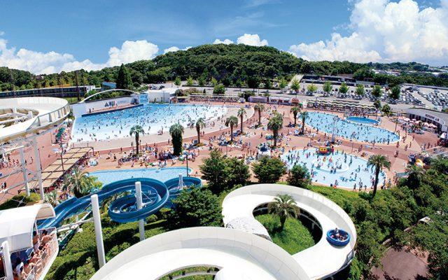 よみうりランド プールWAI(Water Amusement Island)全景