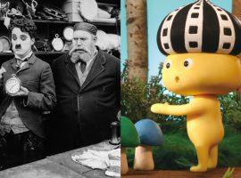 左/「チャップリンの番頭」写真提供:マツダ映画社 右/「映画の妖精 フィルとムー」(c)World Theater Project
