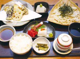 秋野菜の天ぷらとお刺身御膳 1,780円(税込)