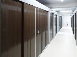 合計107戸あるトランクルームはAタイプからEタイプまでの広さ(0.5畳~4畳)を用意