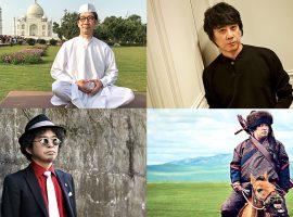 (左上より時計回りに)KAN、山崎まさよし、岡崎体育、奥田民生
