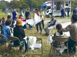早野町内会が初めての自主防災訓練を実施