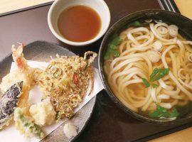 天ぷらうどん(税込1,650円) うどんは冷たい麺にも変更可
