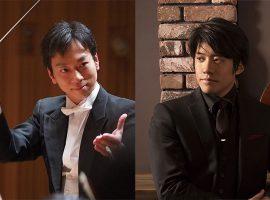 左/田中健(指揮) 右/伊藤悠貴(チェロ)
