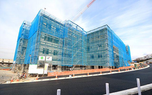 現在建設中の南山リハビリテーション病院