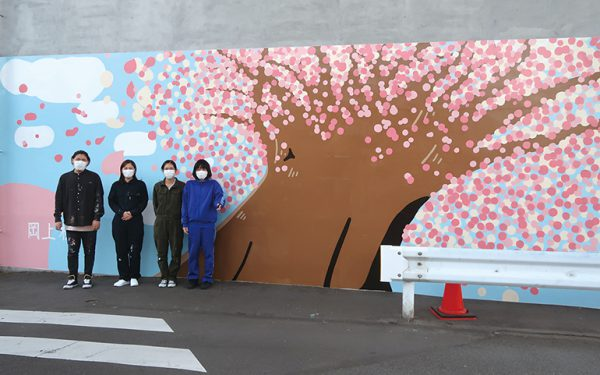 壁画「岡上桜」