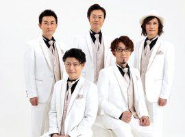 ベイビーブー:(左上から時計回りに)ケン(バリトン)、シノブ(トップテナー)、ユウ(ベース)、ユースケ(テナー)、チェリー(リードテナー)